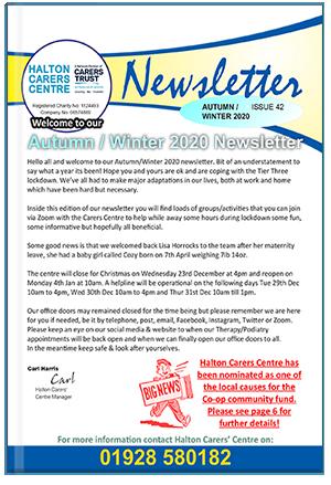 issue-42-halton-carers-centre-newsletter-autumn-winter-2020-21-cover